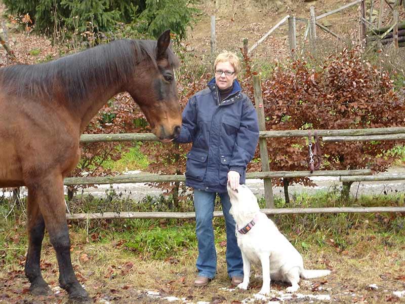 Patrizia Kössler mit ihrem Pferd Lord